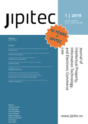JIPITEC 10 (1) 2019